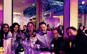 Some of the UnionLine team celebrate at last night's awards